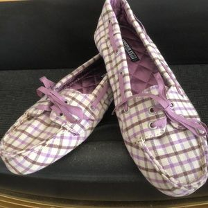 Sperry plaid slippers